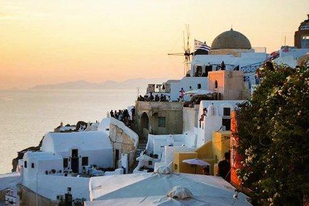 Greece Santorini Travel Adventure Sunset