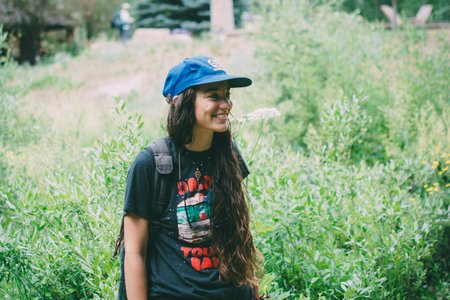 Cameron Smith-Girl Smile Happy Nature Garden Packpack Hat Tshirt