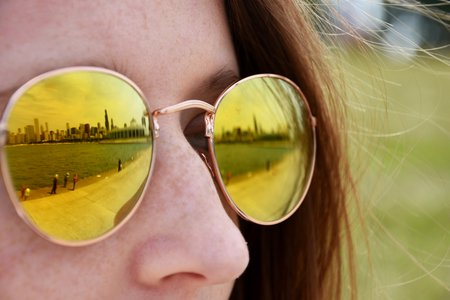 Girl With Sunglasses Outdoors 1