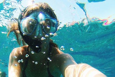Meredith Kress- Underwater Snorkel Selfie