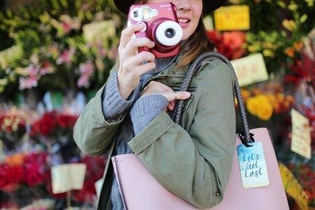 The Lalapolaroid Camera Pink Bag