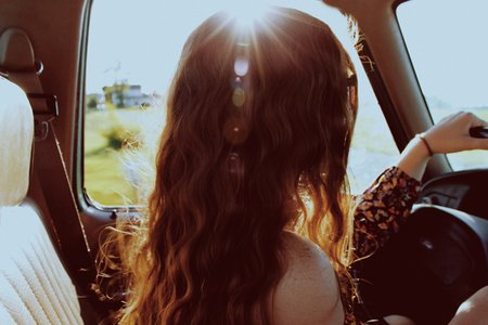 Amelia Kramer-Girl Driving On A Road Trip