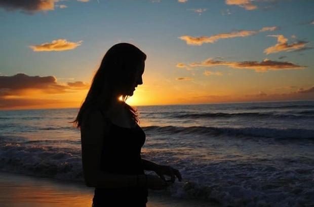 Sunset Ocean Beach Sky Evening