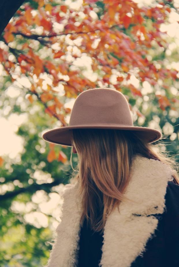 Blonde Hair Hat Leaves