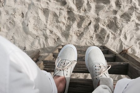 Sneakers Sand White Pants