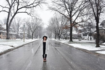 Girl In The Road Winter