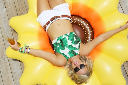 The Lalasunglasses Pool Float Beach Beer