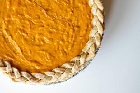 Pumpkin Pie Top Down Braided Crust