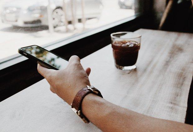 Phone In Hand Coffee Sightglasscoffee