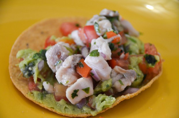 Fish Red Snapper Tostada
