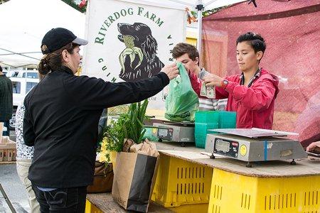 Farmers Market Purchasing Produce