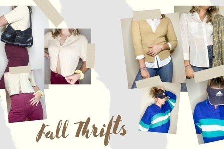 photo collage of fall outfits