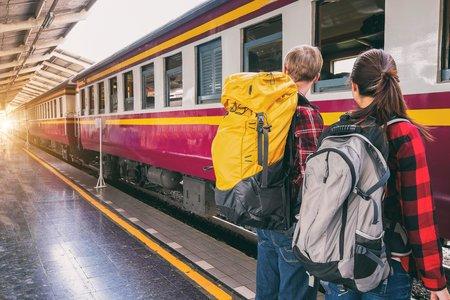 Backpack Commute Commuters Locomotive