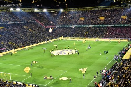 full stadium at a German football game