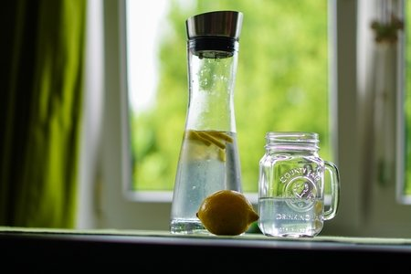Jar with lemon