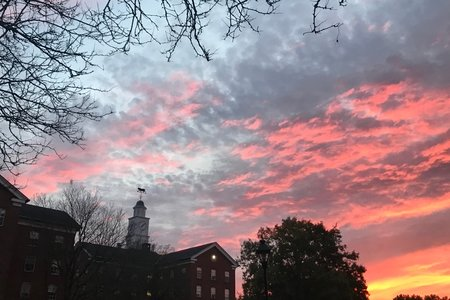 Ohio University Sunset Wray House Back South