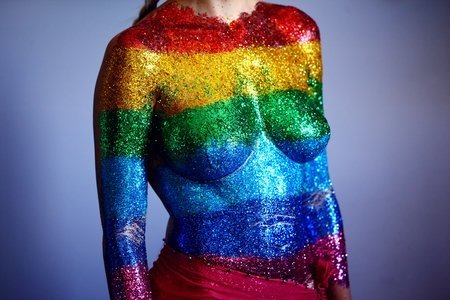 LGBTQ multicolored top