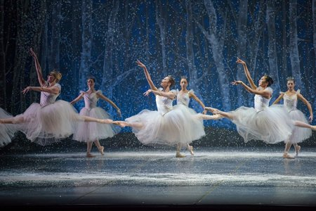 Boston Ballet in Mikko Nissinen's The Nutcracker; photo by Liza Voll, courtesy of Boston Ballet