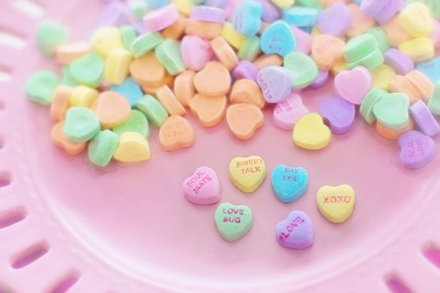 Valentine's day conversation candy hearts