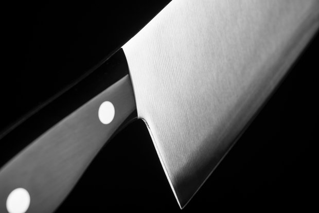 close up of a knife