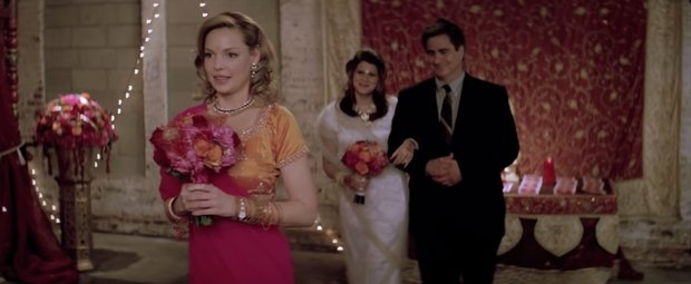 27 dresses ceremony scene
