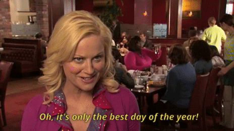 A gif of Leslie Knope from Parks and Recreation