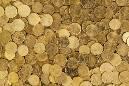 pile of euro coins