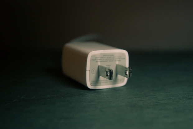 white phone charger