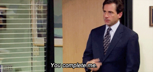 Michael Scott You Complete Me gif
