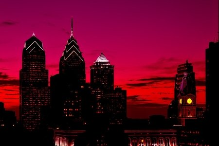 Philadelphia skyline - sunset