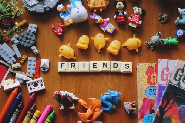friends in scrabble letters