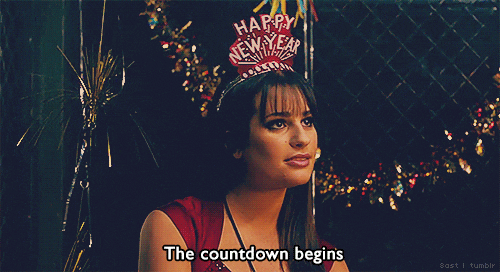 Lea Michele new years gif