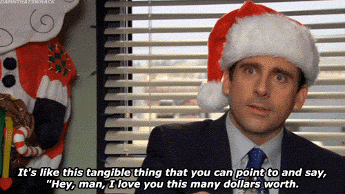 Micheal Scott Christmas gif