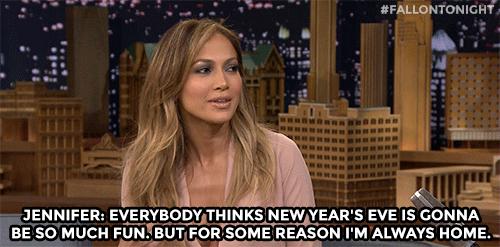 Jennifer Lopez New Years gif