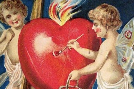 angels painting heart