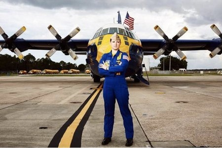 Katie Higgins With Fat Albert