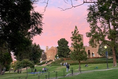 UCLA hill sunset sky