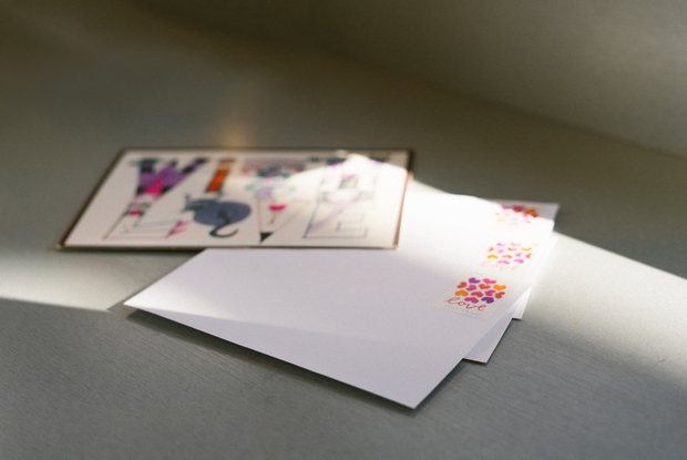 white paper with letters
