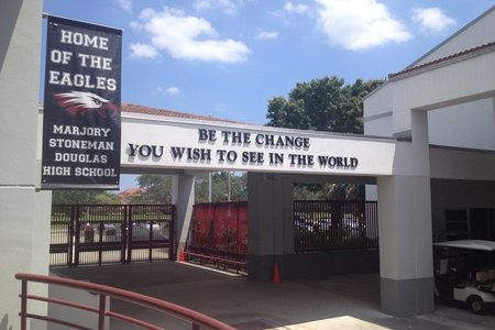 Image of entrance to Marjory Stoneman Douglas high school