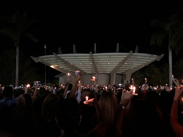Image from Parkland memorial at MSD High School