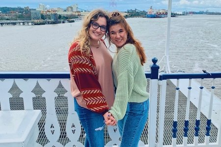 women on boat in Georgia