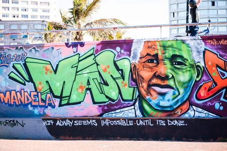 Nelson Mandela Graffiti