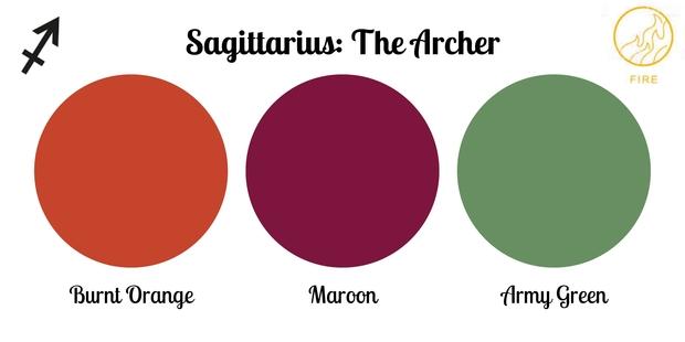 Sagittarius color palette