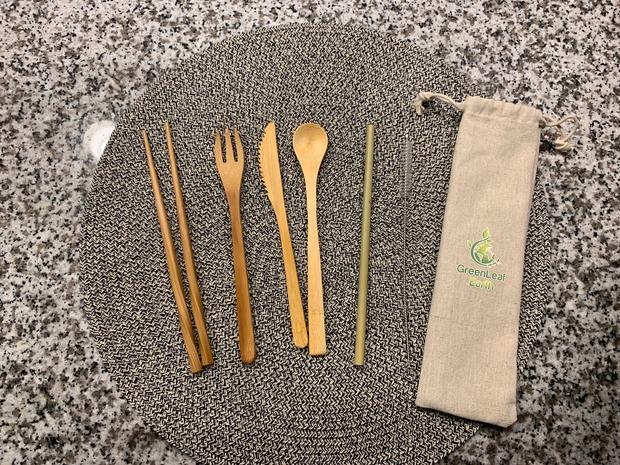 bamboo utensils & pouch