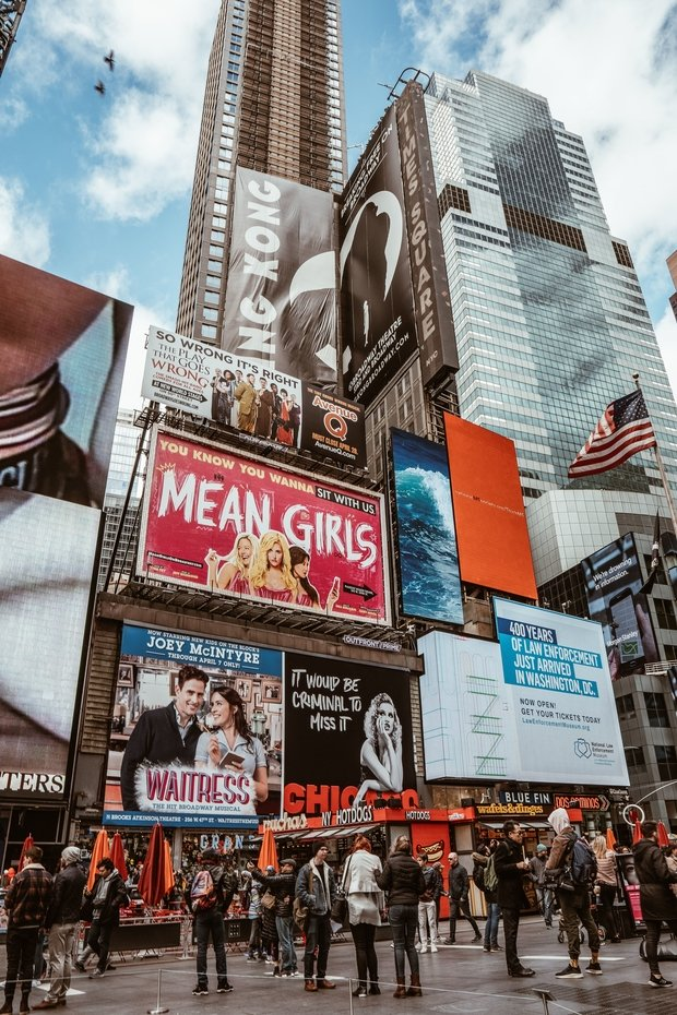 times square mean girls billboard