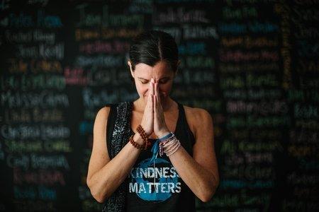 Laura Reiss at Kindness Matters Headquarters
