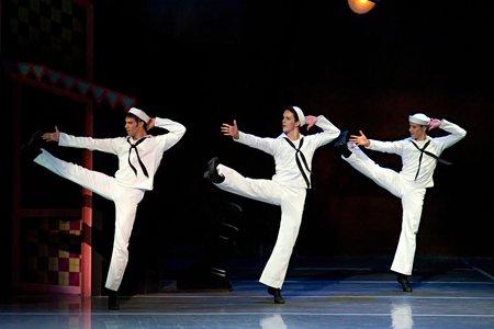 James Whiteside, Paul Craig, and Isaac Akiba in Jerome Robbins' Fancy Free; photo by Gene Schiavone, courtesy of Boston Ballet