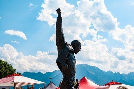 Statue of Freddie Mercury at Montreux