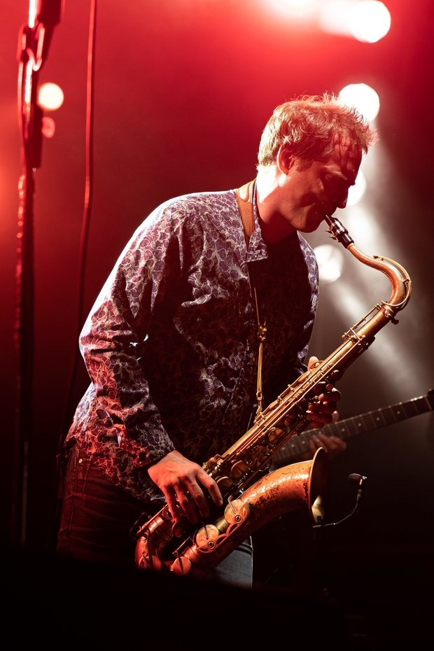 person playing the saxophone