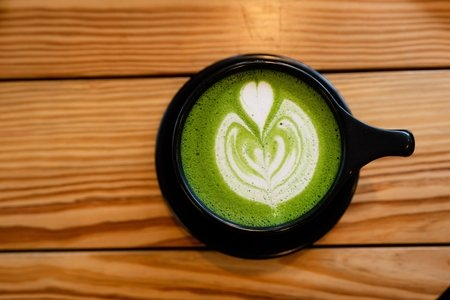matcha with milk